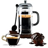 French-Press-Coffee-Tea-Maker-Complete-Bundle-8-Cups-34-Oz-Best-Coffee-Press-Pot-with-Stainless-Steel-Double-German-Glass
