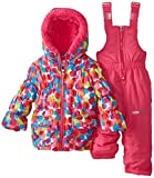 Big Chill Baby-Girls Infant Multi Dot Snowsuit, Pink, 18 Months
