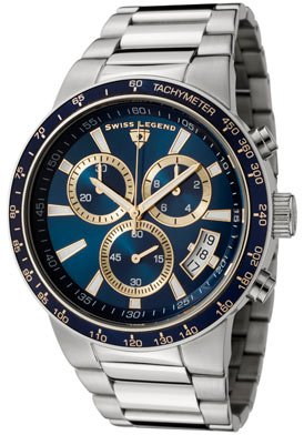 Swiss Legend Men's 10057-33-BLB-GA Endurance Collection Chronograph Stainless Steel Watch