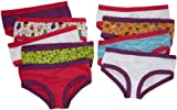 Fruit Of The Loom Big Girls  Girls 9 Pack Cotton Hipsters