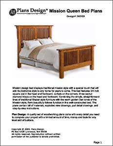 Mission Style Queen Bed Woodworking Plandesign Design