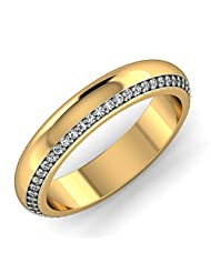 KuberBox 14K Yellow Gold Diamond Ring - B00N9ZFABM