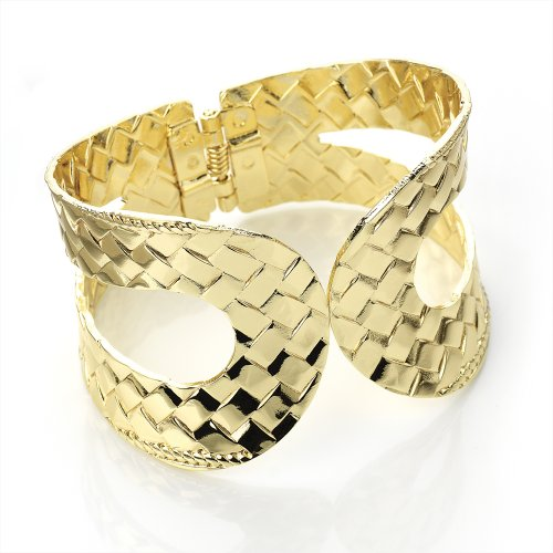 Hinged Fashion Bangle Gold