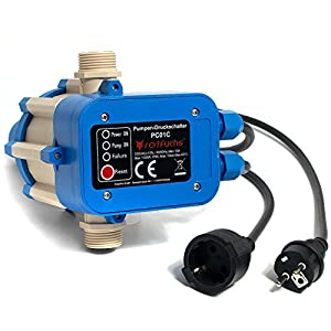 rotfuchs pc01 c mit kabel druckschalter pumpensteuerung pumpenschalter druckregler. Black Bedroom Furniture Sets. Home Design Ideas