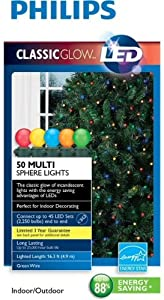 Philips Classic Glow LED 50 Multi Sphere Lights