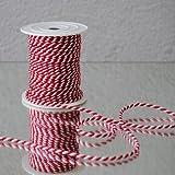 Siegelkordel rot/weiss 3,2mm 25m Rolle (0,22 Eur/m) Kordel zweifarbig