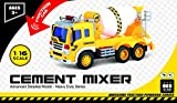 Friction-Powered-Toy-Cement-Mixer-Truck-With-Lights-Sound-TG640-C-Push-Go-Friction-Truck-Toy-By-ThinkGizmos-Trademark-Protected