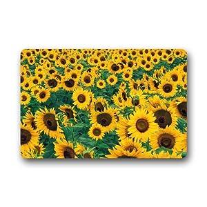 Amazon Custom Sunflower Lanscape Field Door Mats