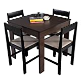 Forzza Peter Four Seater Dining Table Set (Wenge)