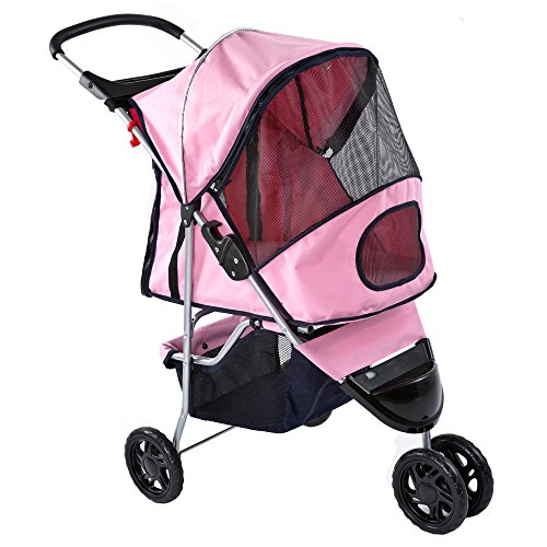 Pink Pampered Pet Jogging Stroller for Small Dogs and Cats