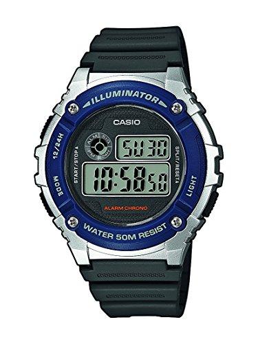 Casio W-216H-2AVEF - Reloj de pulsera hombre, resina, color negro