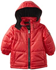 Ixtreme Red Toddler Boys 2-4T Ripstop Puffer Hooded Winter Warm Jacket/Coat