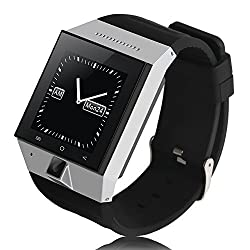 Chinatera Zgpax S55 1.54'' Hd TFT GSM 3g Mtk6572 Dual Core Android 4.4 Smart Watch Phone Wifi GPS Bluetooth Watch (Silver)