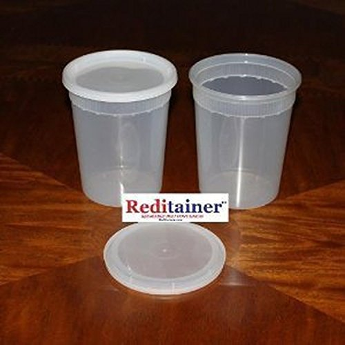 Reditainer Deli Food Storage Containers with Lid, 32-Ounce, 24-Pack (To Go Soup Containers compare prices)