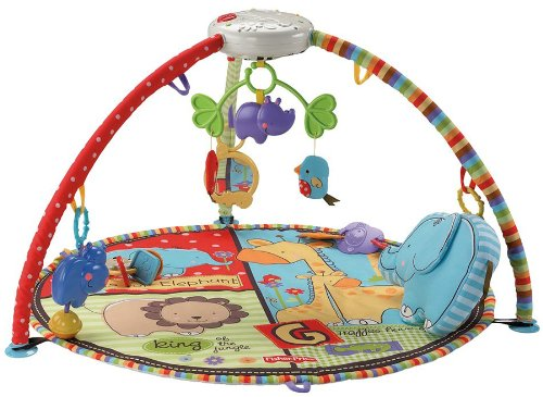 Fisher-Price Luv U Zoo Deluxe Gimnasio Móvil Musical