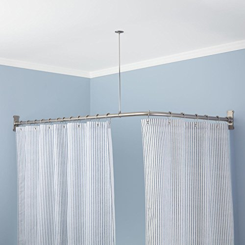 Extra Heavy Corner Shower Curtain Rod 60 L X 30 W Oil Rubbed Bronze Curtain Store