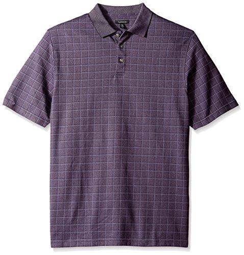 Van heusen men 39 s big tall short sleeve printed windowpane for Big and tall purple dress shirts