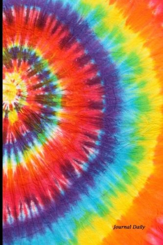 Journal Daily: Tie Dye Pattern, Lined Blank Journal Book, 6 x 9, 200 Pages