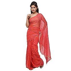 Aradhya Enterprises Women's Chiffon Saree-AE3318_Light Peach