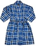 Private Label - Boys 3/4 Sleeve Fleece Plaid Robe