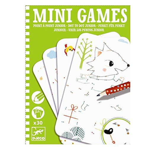 Djeco Mini Games- Dot To Dot Junior - 1