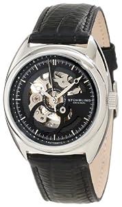Stuhrling Original Men's 381.33151 Delphi Automatic Skeleton Black Leather Watch