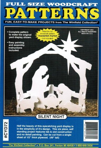 Silent Night Nativity Christmas Yard Art Woodworking Pattern