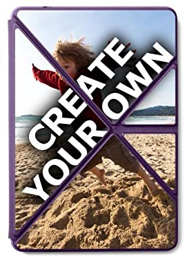 """Kindle Fire HD Purple Origami Case (All Kindle Fire HD 7"""") - 'Create Your Own'"""