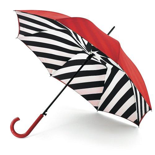 [ルルギネス 傘]ルルギネス(LULU GUINNESS)長傘《ブルームズベリー ダイアゴナル ストライプ 》【平行輸入品】