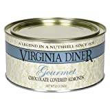 Virginia Diner Gourmet Chocolate Covered Almonds, 20-Ounce Tin