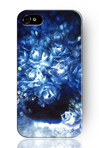 Sprawl New Retro Vintage Sparkle Blue Floweret Personalized Hard Plastic Snap On Slim Fit Iphone 4 4S 4G Case Flower Design front-996806