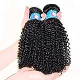 Generic Women's Peruvian Virgin Kinky Curly Human Hair Weave 300g/lots Mix 16 18 20 Inch #1B Black