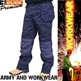 Mens Navy Premium, Heavy Duty Mutlipocket Work Trouser