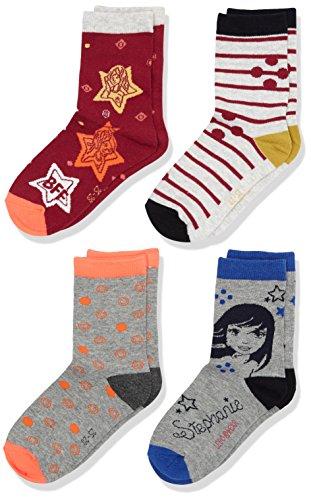 5700067346879 lego wear friends abriel 706 socks 4 pcs chaussettes fille gris
