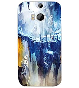 HTC ONE M8 SNOW MOUNTAIN Back Cover by PRINTSWAG
