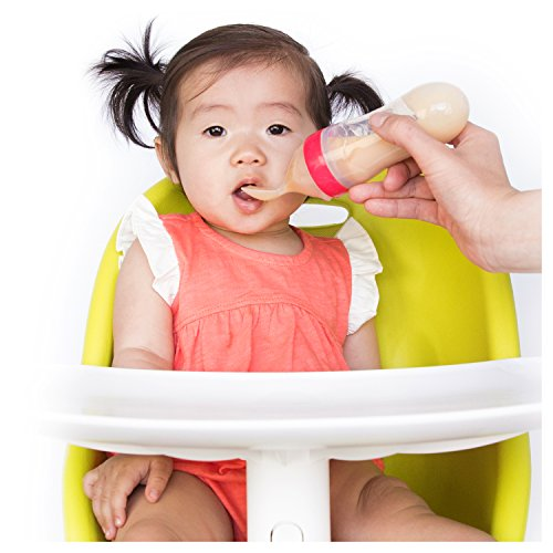 Nuby Garden Fresh Silicone Squeeze Feeder with Spoon and Hygienic Cover