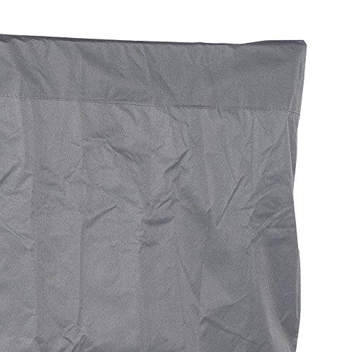 Strandkorbhülle für 2-Sitzer-XL, leichtes Polyestergewebe, anthrazit, ca. L 155 x B 100 x H 160 cm