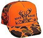 Nice Rack Orange Camouflage Camo Mesh Trucker Hat Cap Deer Buck