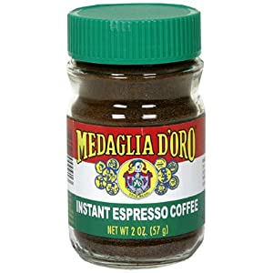 Medaglia D' Oro Instant Espresso Coffee, 2-Ounce Jars (Pack of 6)