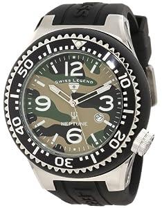 Swiss Legend Men's 11852C-017-BLK Neptune Green Camouflage Dial Watch