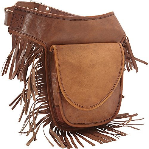 sharo-leather-bags-leather-fringed-adjustable-hip-bag-brown