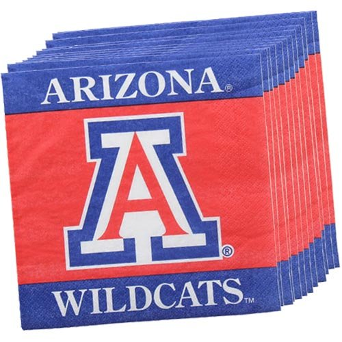NCAA Arizona Wildcats 16-Pack Luncheon Napkins