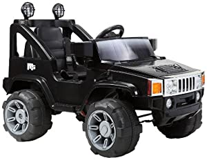 Hummer Jeep Style Kids Ride On with Rechargeable Battery (Black)