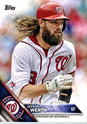 2016 Topps #342 Jayson Werth Washington Nationals Baseball Card