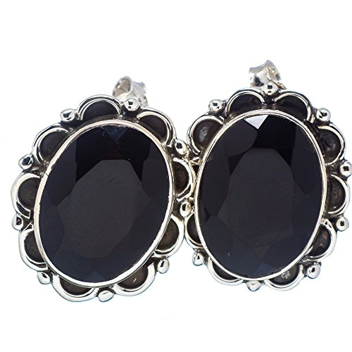 Ana Silver Co Black Onyx 925 Sterling Silver Earrings 1