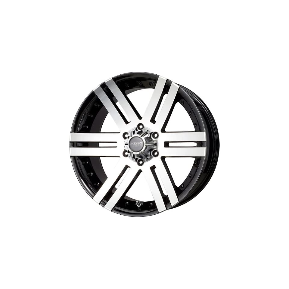 MB Wheels Vortex Black Machined Face Wheel with Machined Finish (16x8/8x165.1mm)