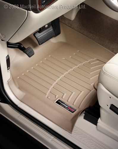 WeatherTech Custom Fit Front FloorLiner for GMC Acadia, Tan (Enclave Weathertech compare prices)