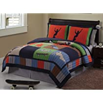 Skateboard Full Quilt Sheets & Shams (7 Piece Bed In A Bag)