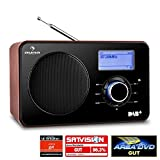 Auna Worldwide Design Internetradio Wlan Radio DAB+ Digital Holz Radio