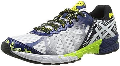 Asics Gel Noosa Tri  - Zapatillas de running para hombre, color Wht/Navy/Fl.Yel, talla 44